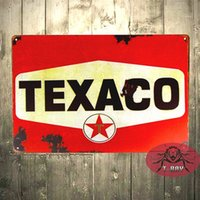 auto gas station - TIN SIGN Texaco Red Rust Oil Gas Station Car Service Auto Shop Garage
