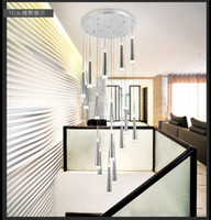 Wholesale Modern minimalist fashion creative personality LED cone pendant living room hotel lobby chandelier DHL Meteor Shower