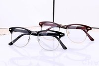 Wholesale 2016 Fashion Women Men Designer Retro Star Glasses Clear Lens plain mirror Eyeglass Reading Spectacle Frame Nerd Geek Optical Eyewear