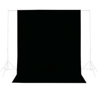 Wholesale Inno photo studio vedio accessories photography x m Photo Studio Solid Muslin Background Backdrop Black hot sale PSB1C