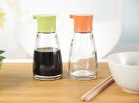 Wholesale Exquisite glass bottle of soy sauce seasoning bottle of vinegar bottle pot kitchen table