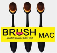 high quality cosmetics makeup - 2016 Oval Makeup Brush Toothbrush Shaped Cosmetic Foundation BB Cream Powder Blush Makeup Tools Blending Brush High Quality