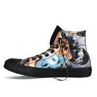 batman shoes for women - 2016 Batman Super hero casual shoes Flat lace up fashion canvas shoes for women and man Size High top good quality