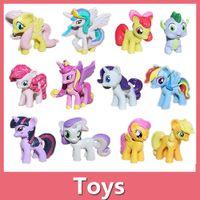 Wholesale My Little Horse Pony set Cartoon Characters Toys Action Figures cm Rainbow Horse Toys