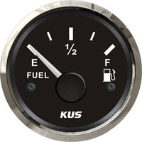 Wholesale mm Fuel level gauge fuel level meter ohm signal black faceplate for boat yacht universal car truck