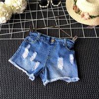 TuTu Summer One piece Summer Children Denim Shorts Korean Girl Lace Shorts Kid's Jeans Hot Pants Crochet hollow tassels Factory Sale Good quality Ripped Jeans 5