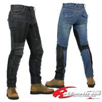 Wholesale Komine SuperFIT kevlar D jeans Moto Jeans resistance thin denim trousers rally moto pants black blue men s fashion jeans