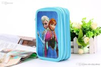 Wholesale Holiday gift Frozen stationery box pen box Pencil Bag suite girl Pencil Bag available from stock Halloween