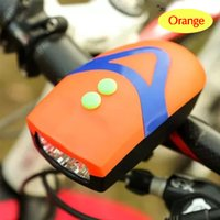 Wholesale Bicycle accessories bicycle horn lights function with LED headlights electric horn tones The electronic bell