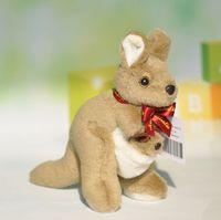 australian ribbon - New Australian Mother and child kangaroo plush toy ribbon style doll no46