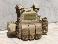 Wholesale Outdoor wargame equipment with three pouches of TMC tactical vest CS outdoor vest