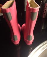 ankle high wellies - High Quality H Original brand children child rainboot kids rubber rain boot waterproof wellies water shoes boots short rainboots
