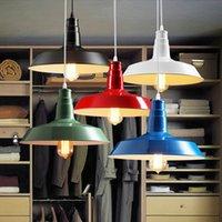 bedroom warehouse - New Loft RH Industrial Warehouse Pendant Lights American Country Lamps Vintage Lighting for Restaurant Bedroom Home Decoration Black