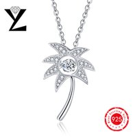 best designer jewelry - Charms Coconut Palm Tree Women Pendant Sterling Silver Ocean Series Designer Jewelry with Dancing Stone Best Friends Pendant NP37430A