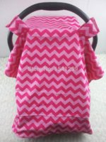 Wholesale soft baby Car Seat Canopy infant CarSeat Cover Warm in Winter Cool in Summer hot pink chevron zig zag cotton