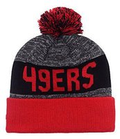 beach check - New Beanies Heather Gray Sideline Sport Knit Hat Football Pom Knit Hats Sports Cap SF Team Hats Mix Match Order All Top Quality Hat