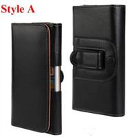 Clips de bolsas España-Para iPhone 6 4,7 6 más 5,5 caso Lychee grano llano Weaves Pulsera cinturón de cuero PU bolsa de piel bolsa de teléfono celular bolsa de la contraportada