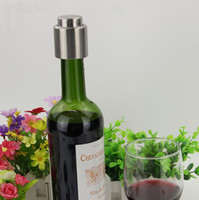 best wine stoppers - Stainless Steel Vacuum Sealed Red Wine Storage Bottle Stopper Plug Bottle Cap Super Easy to Keep Your Best Wine Fresh