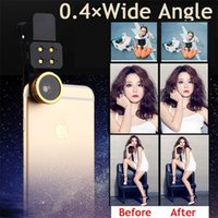 angle flashlight - Hot in LED flashlight camera lens Clip Professional Filling Light with Fisheye wide angle lens Macro Lens for Smart phones
