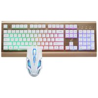 Wholesale The spotlight leopard G300 computer game USB backlight luminous metal mechanical cable internet keyboard and mouse