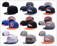 Wholesale Newest Denver Snapback Caps Adjustable Black Baseball Caps hip hop Fashion Football hat Broncos Snapback Men women hat