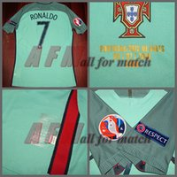Wholesale POR vs Wales Euro Match Worn Player Issue Away Ronaldo Nani Quaresma Football Rugby Custom Patches Sponsor