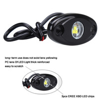 atv trail lights - 9w inch CREE LED Work Rock Light Flood ATV x4 Off Road Pickup Truck Under Wheel Rig Light Body Trail Rig Lamps