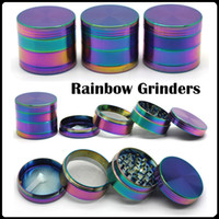 Wholesale High Quality Rainbow Grinders Zinc Alloy Metal Grinders mm Diameter Parts Herb Grinders Herb Crushers Fast Shipping