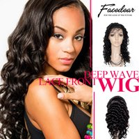 Wholesale Glueless Lace Front Wigs Deep Wave Brazilian Celeb Human Hair With Adjustable Stretch And Combs Breathable Cap With Baby Hair