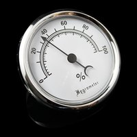 analog cigar hygrometer - Silver Frame Analog Smoke Tobacco Hygrometer With Glass Display For Cigar Humidor mm x mm Manufacture Direct Supply