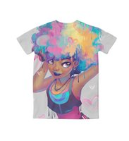 beauty lisa - Real USA Size Natural Vibrant Beauty Queen Lisa D Sublimation print custom made T Shirt Plus size
