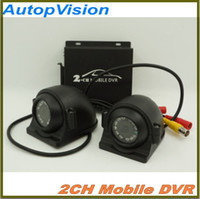 Mini CCTV de seguridad 2 canales DVR en tiempo real SD 128 GB de grabación de la tarjeta de autobuses móviles de vehículos de coches de camiones DVR Recorder System 2 canales de audio