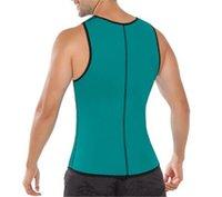 Wholesale Men s Body Shaper Sport Weight Loss Tank Top Neoprene Waist Trainer Workout Waist Cincher Gym Slimming Waist Training Corsets