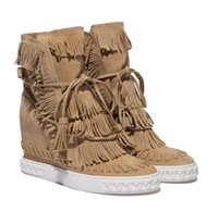 Cheap Fringe Boots Wedge Heel | Free Shipping Fringe Boots Wedge ...
