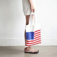 american flag shop - The American flag shopping bag Students creative portable canvas bag exquisite fashion canvas bags spot cotton canvas shopping bags