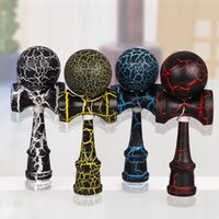 best outdoor wood - High quality wooden kendama toys best wooden toy for kids outdoor sport ball kendama PU Crack paint