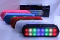Wholesale New BT808NL New Mini Portable Wireless Bluetooth Speaker With Pulse LED Liht Flash Pill XL Speaker Bulit in Mic Handsfree