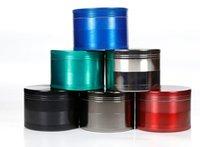 Wholesale Sharp Stone print logo herb grinder metal SharpStone Hard top tobacco Grinders Diameter mm parts multi colors grinders free dhl shipping