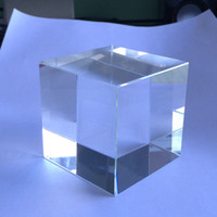 Wholesale mm Crystal Blank Paperweight For Customized d or d laser Crystal Cube For Business Gifts With Gift Boxes