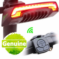 Wholesale Smart Bicycle Light Bike Rear Remote Wireless Light Turn Signal LED Tail Light Laser Beam USB Chargeable Cycling