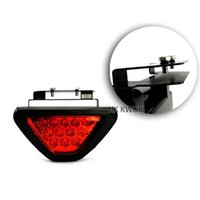 Wholesale Universal F1 Style LED Lamp DC V Car Brake Stop Light Red Strobe Flash Safety Fog Lamp Rear Tail Triangle External Lights