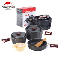 Wholesale NH High Quality Outdoor Camping Cookware Safe Health Rub Resistance Picnic Cooking Hiking Tablewares Cooker Set people