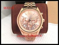 auto gold plating - TOP QUALITY BEST PRICE MK8319 Rose Gold Plated Chronograph Men s Watch MK8286 MK8281 MK8280