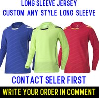 Wholesale Best Thailand quality Long sleeve soccer shirts free customize name and numbers more styles