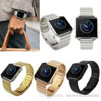 Acero inoxidable de la pulsera del acoplamiento del reloj de la correa de Bandas con la herramienta de Fitbit Blaze Control de actividad inteligente reloj de la aptitud