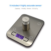 Wholesale Digital Pocket Kitchen Scale g Kitchen Food Scale Weight Compact Scale Tare Stainless Steel Backlit Display