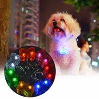 Wholesale 7 Colors Pet Dog Tag Pendant Safety Supplies LED Luminous Pendant Ornaments Glowing Pet Supplies Pets Tags S2