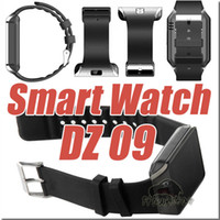 Wholesale DZ Smart Watch DZ09 wear smartwatch With SIM g gsm Bluetooth heartrate For Samsung android IOS With retail box