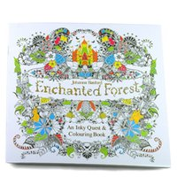 Wholesale New Enchanted Forest An Inky Treasure Hunt and Coloring Book By Johanna Basford For Kids Adult Relieve Stress Graffiti Painting Drawing Book