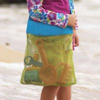 Wholesale Baby Beach Sandy Toy Collecting Bags Outdoor Organizer Bags Beach Shells Filling Bag